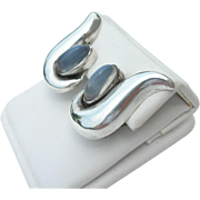 Antonio Pineda - Sterling & Moonstone - Clip Earrings