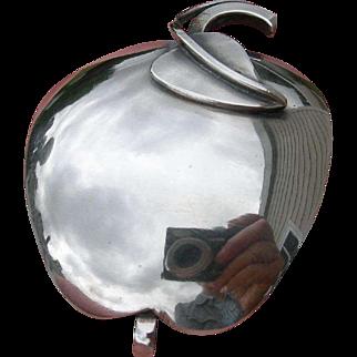 Paul Lobel - Sterling Silver - Modernist Pin Brooch - Apple