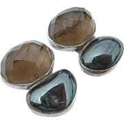 Rebecca Collins - Sterling Silver - Chunky Clip Earrings