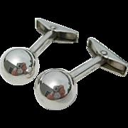 Allan Adler - Sterling Silver - Ball Cuff Links