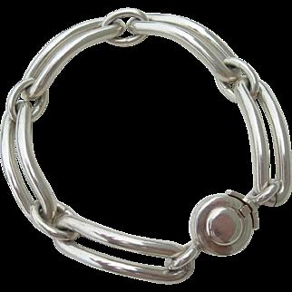 NE From - Sterling Silver - Heavy Link Bracelet - Modernist