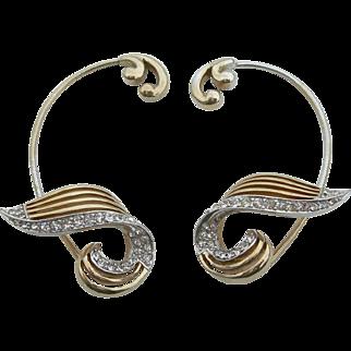 Marcel Boucher - Earrite Ear Cuffs- Rhinestones - 1950s