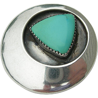 Frank Patania Sr. - Sterling Silver and Turquoise - Pin Brooch and Pendant