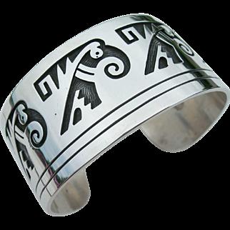 Weaver Selina - Sterling Silver - Hopi Overlay - Bracelet
