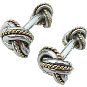 Tiffany & Co - Sterling and 18K - Double Knot Cuff Links