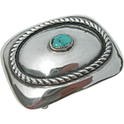 Frank Patania Sr - Turquoise and Sterling - Belt Buckle