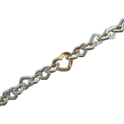 Tiffany & Co - Sterling Silver and 18K Yellow Gold - Chunky Heart Link Bracelet