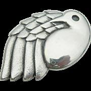 James Avery - Sterling Silver - Dove Bird Pendant Pin - Retired