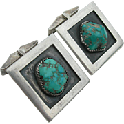 Frank Patania Sr. - Sterling Silver and Turquoise - Cufflinks