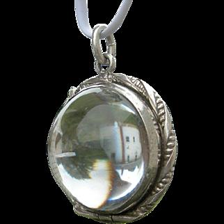 Pools of Light – Rock Crystal - Sterling Silver Antique Locket