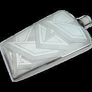Napier Sterling Silver - Liquor Flask - Art Deco - Shot Glass Lid