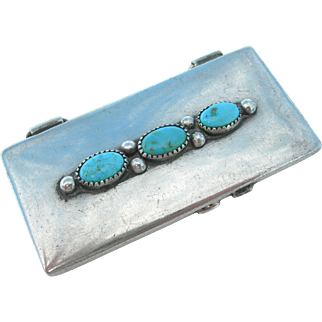 Frank Patania Sr - Sterling and Turquoise - Pill Box