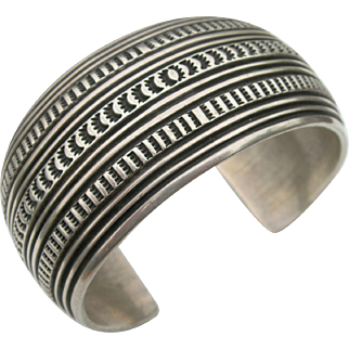 Gary Reeves - Stamped Sterling Silver - Large Bracelet Cuff