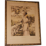 Original Bessie Pease Gutmann Home Builders Framed Lithograph