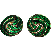 Trifari Enamel Earrings