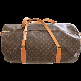 Authentic Vintage Louis Vuitton Large Duffle Bag Sac Polochon 60