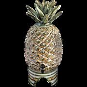 Rare Vintage Louisville Stoneware Pineapple Samovar Drink Dispenser With Stand