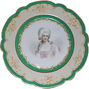 Antique Sevres Chateau Des Tuileries Porcelain Portrait Plate of Mme de Montesson