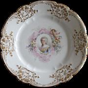 Sevres Chateau des Tuileries Porcelain Plate Elisabeth with Cherub