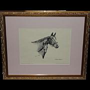Gordon Rettew Artist Pencil Signed Etching