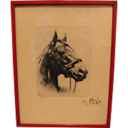 R.H. Palenske Etching Man O' War from Brown & Bigelow Collection