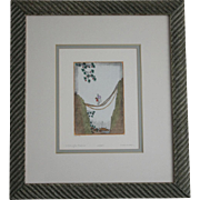 Dan Mitra Crossing the Frontier Limited Edition Pencil Signed Framed Etchings 312/350