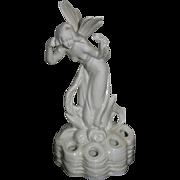 Vintage Art Deco Flower Frog Fairy Nymph Figurine