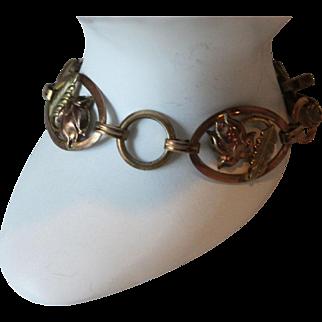 Vintage Van Dell 12 KGF Gold over 925 Sterling Silver Link Bracelet
