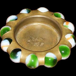 Vitro Agate Marble Ashtray Trinket Tray