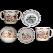 Royal Doulton Bunnykins 2 Handled Child's Cup / Mug Knitting and Unraveling Yarn