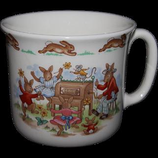 "Royal Doulton Bunnykins Cup / Mug ""Dancing Around The Organ"""