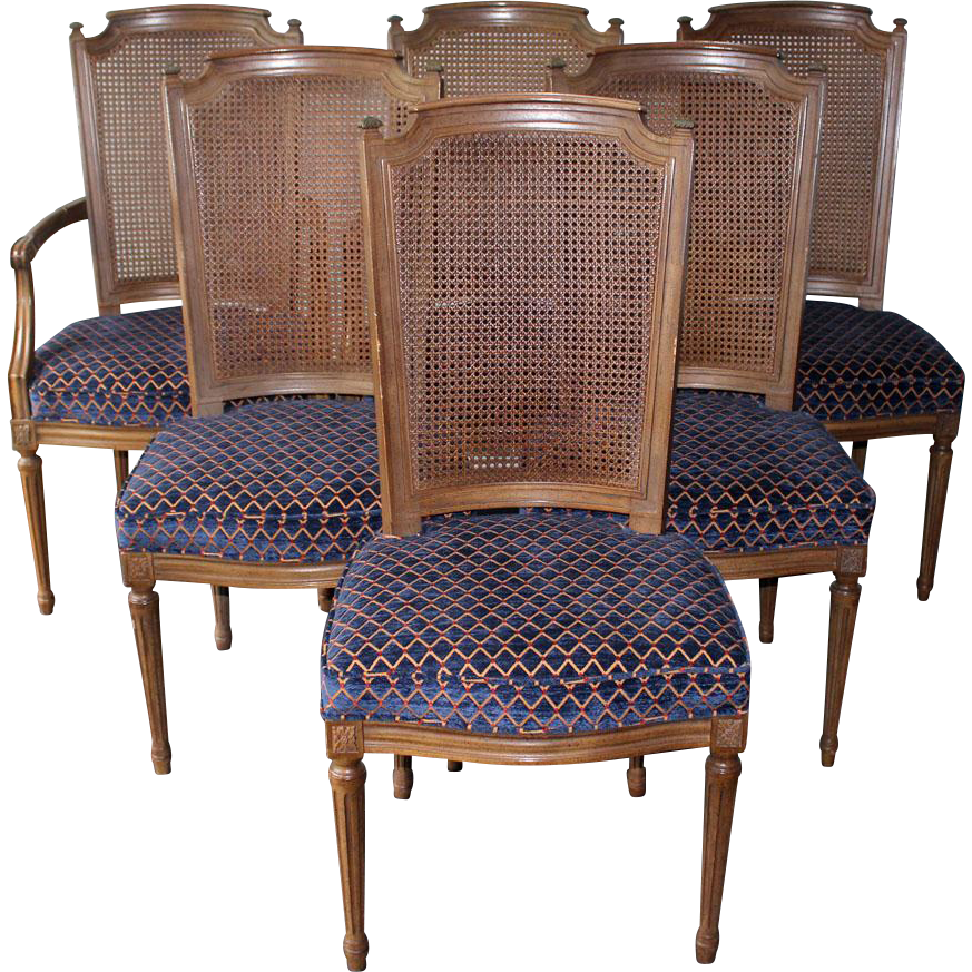 6 Vintage Henredon French Regency Dining Room Chairs from ...