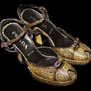 Prada Vintage Snakeskin Python Heels Sz 38