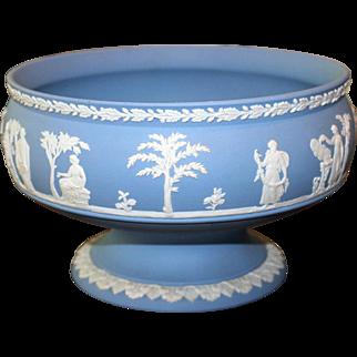 Large Vintage Wedgwood Jasperware Imperial Footed Bowl
