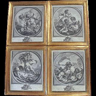 J. Daulle after Francois Boucher Framed Engravings