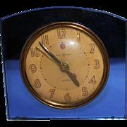 Blue Mirror Glass General Electric Art Deco Clock Model 7H102
