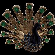 Vintage Boucher Peacock Brooch 8067P Book Piece Pin