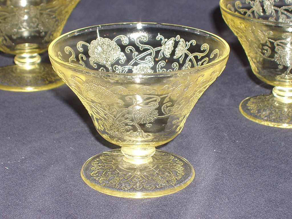 Hazel Atlas Depression Glass Florentine II Footed Sherbet