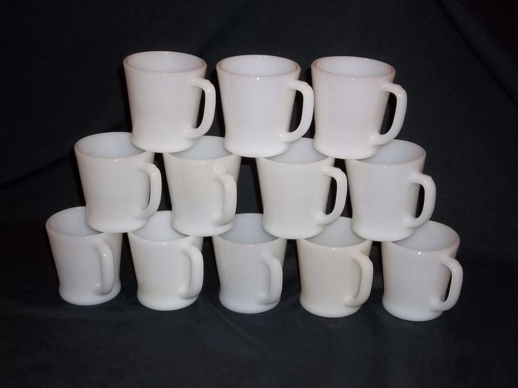 fire king white u201cd u201d handle coffee mugs 15 available from