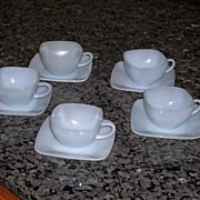 Fire King Charm Azurite Cup & Saucer sets- 5 Available