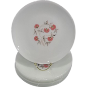 Fire King Fleurette Dinnerware Dinner Plates - Red Tag Sale Item