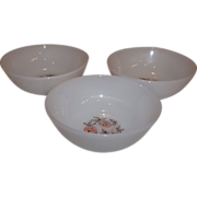 Fire King Fleurette Berry Bowls-Set of 3