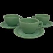 Fire King Jadeite Restaurant Ware Coffee Mug/ Cup & Saucer set-3 available