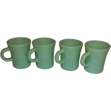 Fire King Jadeite Slim Chocolate Mugs- 9 Available