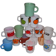 Fire King Anchor Hocking 15 Mug Assortment