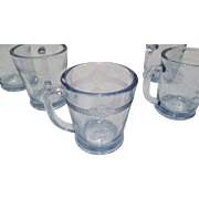 Fire King Sapphire Blue Philbe D Handled Mugs-5 Available