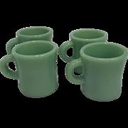 Fire King Jadeite C Handle X THICK/ HEAVY Mug Restaurant Ware