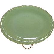 Fire King Jadeite Jane Ray Platter-Embossed OVEN GLASS