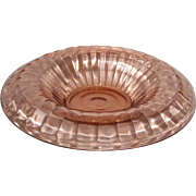 Depression Glass -Pink Block Optic Console Bowl