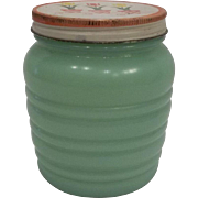 Fire King Jadeite Tulip Grease Jar